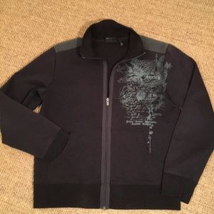HOST PICK!!! Hurley men's black full zipper fleece